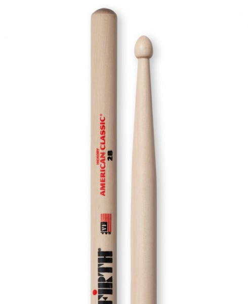 Vic Firth 2B Drumstick American Classic Hickory